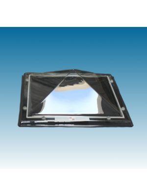 lichtkoepel 100 X 100 driewandig polycarbonaat (PC/PMMA/PC) piramide