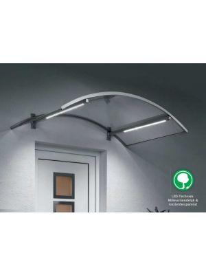Gebogen luifel met LED-techniek - lichtlijsten | BV/LL
