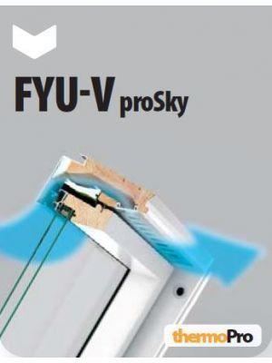Fakro FYU-V U3 proSky Tuimeldakraam verhoogde tuimelas 94x206 cm