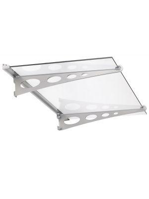 Deurluifel Glassline Garant Getoogd  glas helder Edelstaal V2A 1500x890x208