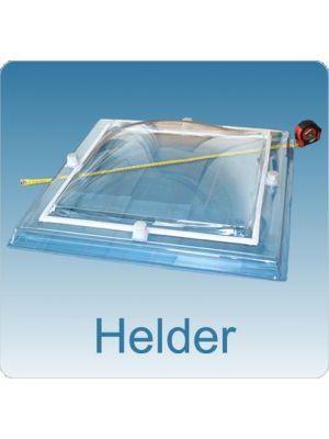 lichtkoepel 100 X 150 driewandig polycarbonaat (PC/PMMA/PC) bolvormig,maatvoering lichtkoepel rechtkoefig en vierkant