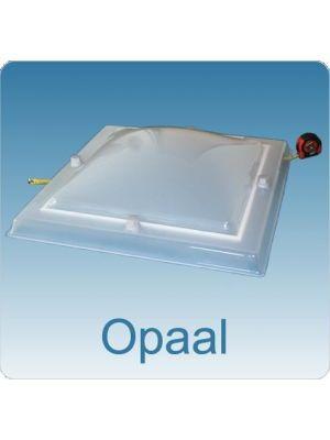 lichtkoepel 80 X 130 driewandig polycarbonaat (PC/PMMA/PC) bolvormig opaal