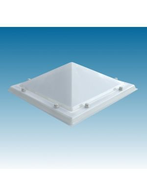 lichtkoepel 90 X 180 driewandig polycarbonaat (PC/PMMA/PC) piramide opaal
