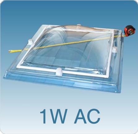 losse lichtkoepel enkelwandig acrylaat